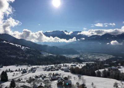 Aussicht Tal Winter 1